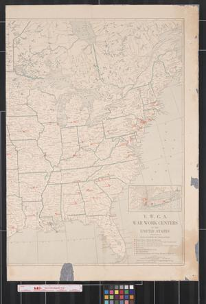 Primary view of object titled 'Y.W.C.A. war work centers in the United States.'.