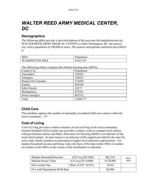 Primary view of object titled 'Walter Reed Army Medical Center Criterion 7 document.'.