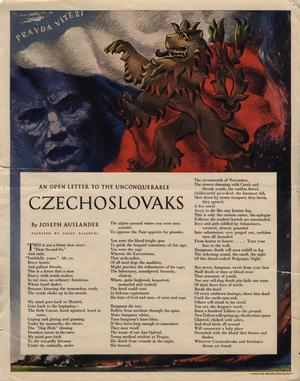 Primary view of object titled 'An open letter to the unconquerable Czechoslovaks.'.