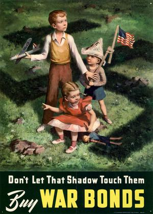 Primary view of object titled 'Don't let that shadow touch them: buy war bonds.'.
