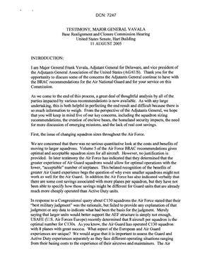 Primary view of object titled 'Statements and Testimony - Informational Hearing - 8/11/05 - Washington, DC -'.