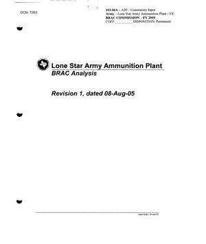 Primary view of object titled 'Community Input - Lone Star Army Ammunition Plant BRAC Analysis'.