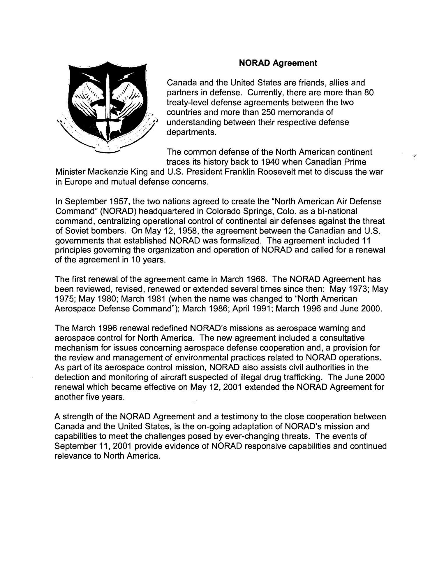 State Input Colorado North American Aerospace Defense Command