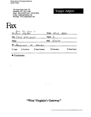 Primary view of object titled 'Executive Correspondence – Memorandum of Meeting dtd 08/12/2005 to Dave Van Saun and Brad McRee from Nick Keller'.