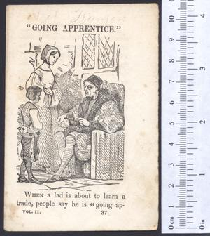 Primary view of object titled 'Going apprentice.'.
