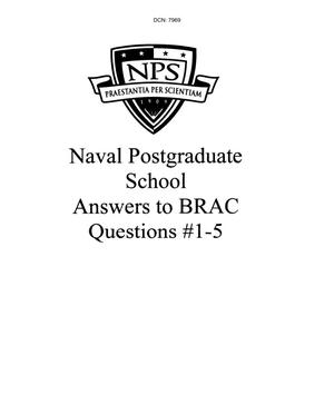 Primary view of object titled 'Naval Postgraduate School Answers to BRAC Questions #1-5'.