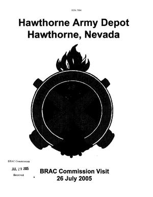 Primary view of object titled 'Hawthorne Army Depot Base Input'.