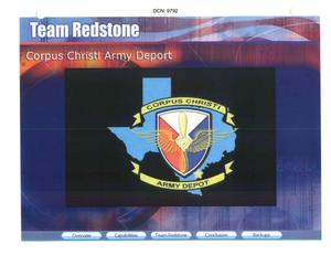 Primary view of object titled 'Corpus Christi Army Depot Installation Familiarization Briefing'.