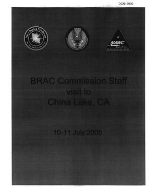 Primary view of object titled 'BRAC Commission Staff visit to China Lake, CA - 10-11 July 2005'.