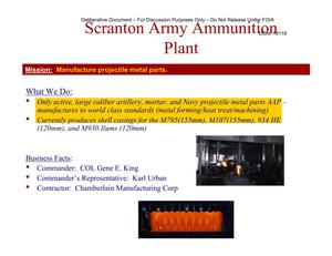 Primary view of object titled 'Scranton AAP Installation Familiarization Briefing (22 May 04)'.