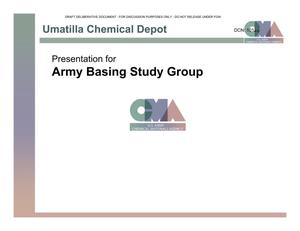 Primary view of object titled 'Umatilla CD Installation Familiarization Briefing (10 Feb 04)'.