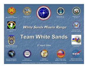 Primary view of object titled 'White Sands MR Installation Familiarization Briefing (27 Apr 04)'.