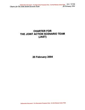Primary view of object titled '040716 - 05 - JOINT ACTION SCENARIO TEAM Charter 20 Feb 04'.