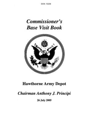 Primary view of object titled 'Base Visit Book for Hawthorne Army Depot (2nd Visit)'.