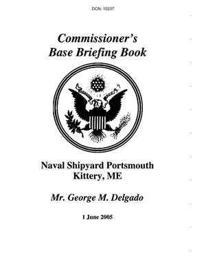 Primary view of object titled 'Base Visit Book for Naval Shipyard Portsmouth Kittery, ME'.