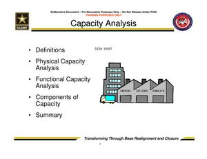 Primary view of object titled 'Capacity Analysis - Trusted Agent Training Session 2'.