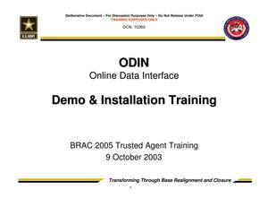 Primary view of object titled 'Online Data Interface, Demo & Installation Training - Trusted Agent Training Session 2'.