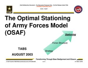 Primary view of object titled 'TABS Training 101 - OSAF Training'.
