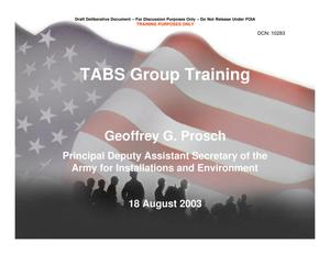 Primary view of object titled 'TABS Training 101 - PDASA'.