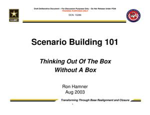 Primary view of object titled 'TABS Training 101 - Scenario Building 101'.