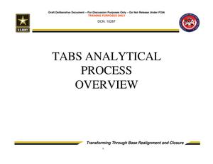 Primary view of object titled 'TABS Training 101 - TABS Analytical Process Overview'.