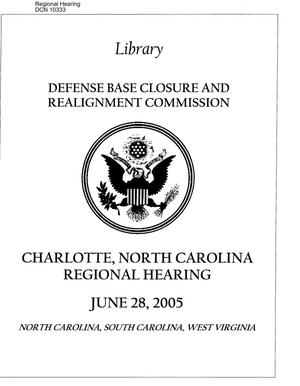 Primary view of object titled 'Regional Hearing – Charlotte, NC'.