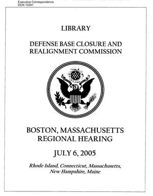 Primary view of object titled 'Regional Hearing – Boston, MA'.