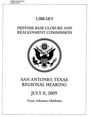 Primary view of object titled 'Regional Hearing – San Antonio, TX'.
