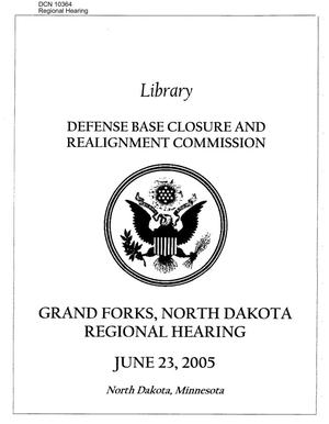 Primary view of object titled 'Regional Hearing – Grand Forks, ND'.