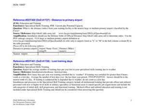 Primary view of object titled 'E&T JCSG - MILITARY VALUE ANALYSIS REPORT, Attachment 3 (Part 4 of 6) - July 2004'.