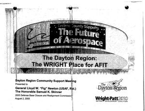"Primary view of object titled 'Dayton Ohio Region ""The Wright Place for AFIT"" Wright Patterson Community Input'."