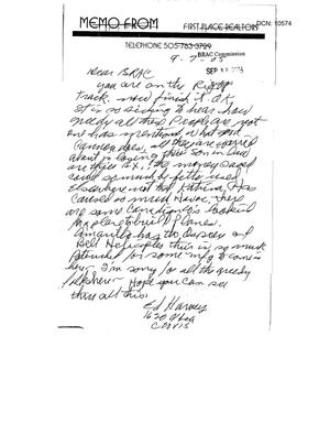 Primary view of object titled 'Letter from Ed Harvey to the BRAC Commission dtd 7Sep2005'.
