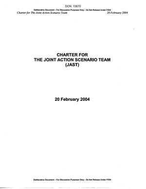 Primary view of object titled 'Charter for the Joint Action Scenario Team'.