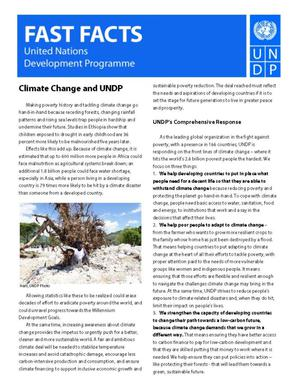 Primary view of object titled 'Fast Facts: Climate Change and UNDP'.