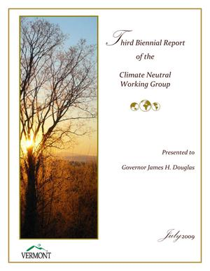 Primary view of object titled 'Third Biennial Report of the Climate Neutral Working Group'.