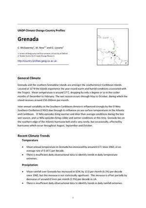 Primary view of object titled 'UNDP Climate Change Country Profiles: Grenada'.