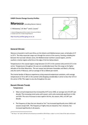 Primary view of object titled 'UNDP Climate Change Country Profiles:Morocco'.