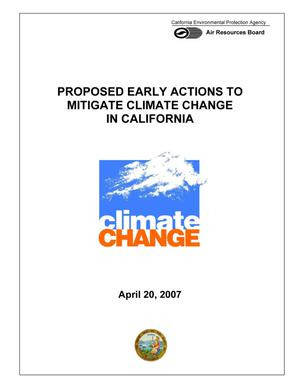 Primary view of object titled 'Proposed Early Actions to Mitigate Climate Change in California'.