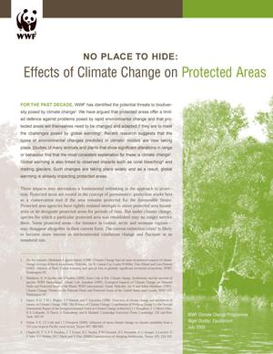Primary view of object titled 'No Place to Hide:: Effects of Climate Change on Protected Areas'.