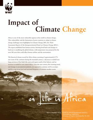Primary view of object titled 'Impact of Climate Change on Life in Africa'.