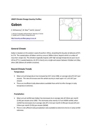 Primary view of object titled 'UNDP Climate Change Country Profiles: Gabon'.