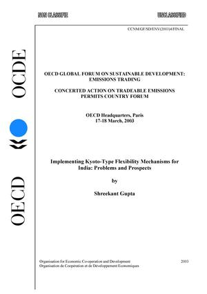 Primary view of object titled 'OECD Global Forum on Sustainable Development: Emissions Trading: Concerted Action on Tradeable Emissions Permits Country Forum'.