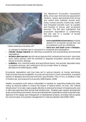 Environmental Guidance Note for Disaster Risk Reduction: Healthy