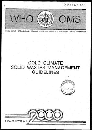 Primary view of object titled 'Gold Climate Solid Wastes Management Guidelines'.