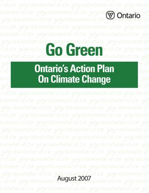 Primary view of object titled 'Go Green Ontario's Action Plan On Climate Change'.