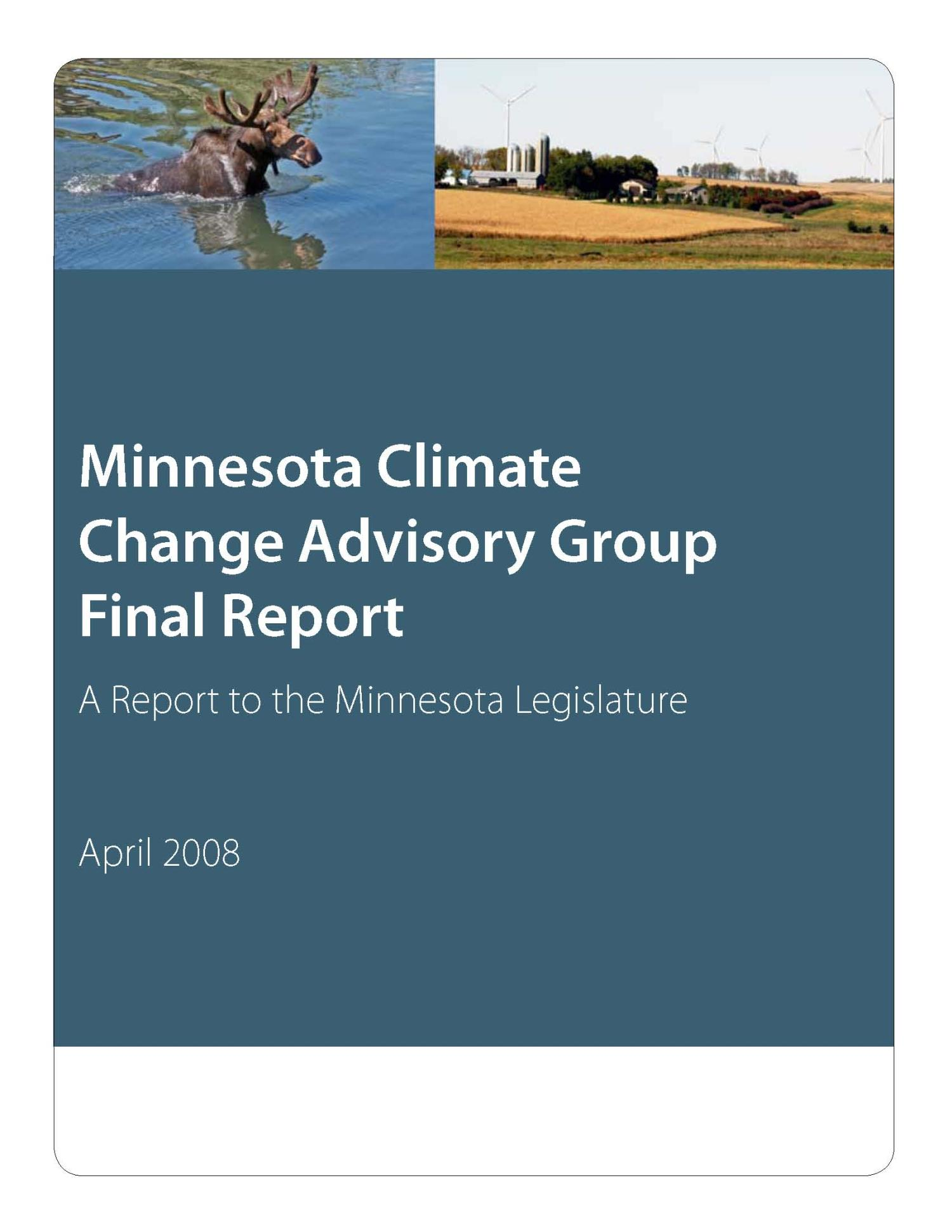 Beyond Kyoto, Manitoba's Green Future : Next Steps, 2008 Action on Climate Change                                                                                                      Title Page