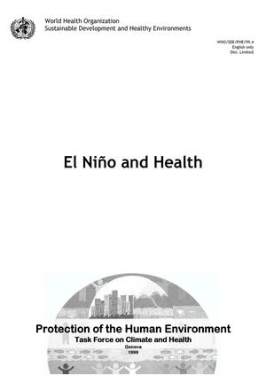 Primary view of object titled 'El Niño and health'.