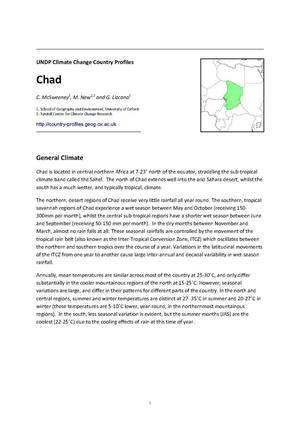 Primary view of object titled 'UNDP Climate Change Country Profiles: Chad'.