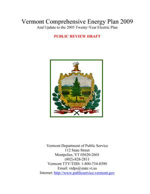 Primary view of object titled 'Vermont Comprehensive Energy Plan 2009 And Update to the 2005 Twenty-Year Electric Plan'.
