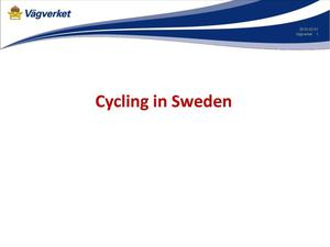 Primary view of object titled 'Cycling in Sweden'.